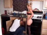 Hot Blonde Milf Housewife Fucked By Black Plumber
