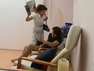Aunt Catch Nephew Jerking on Porn Magazine and Punish him