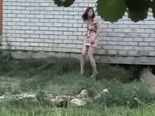 Girls Outdoor Peeing