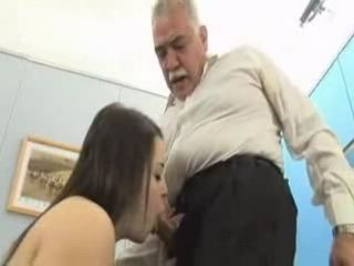 Wasted Student Girl Used by Pervert Grandpa