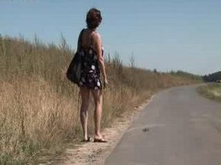 Mature Hitchhiker Gets Fucked Outdoor