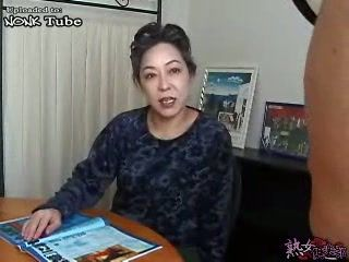Japanese Granny Awakes and Fucks Sleeping Daughters Husband Uncensored