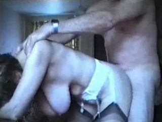 Mature with huge saggy boobs gets doggystyled