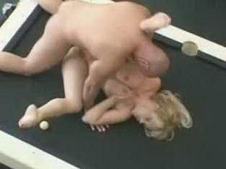 Huge Tits Blonde Fucked on Billiard Table
