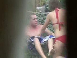 Neighbor Caught Teen Couple having Sex in Beck Yard