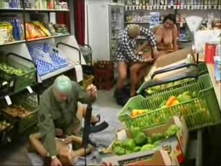Armed Robbers Fucks Girls In The Store