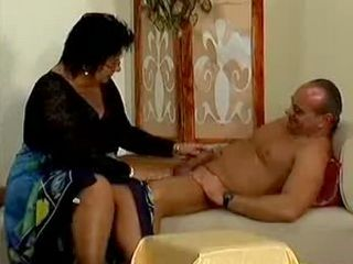 Crazy old mom gets hard fucked