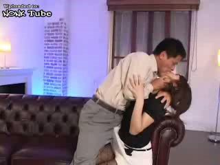 Japanese MILF Gets Her Nylons Ripped Off And Hard Fucked