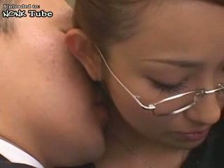 Japanese Boss Fuck His Secretary In Pantyhose At Locker Room