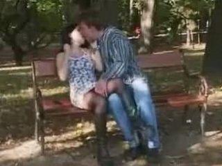 Horny Couple Fucks in the Park