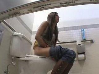 Voyeur Fucked Woman in Ladies Toilet