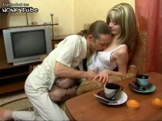 Russian Skinny Guy With Funny Mustache Fuck Wife