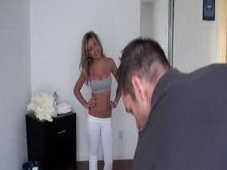Aubrey's First Fully Nude Massage part 1