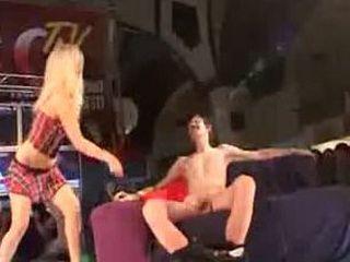 Ugly guy gets beauty stripper