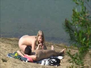 Voyeur Tapes Teen Couple Fucking By The Lake