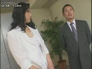 Hot Japanese MILF Japanese Secretary Attacked and Fucked By Her Boss