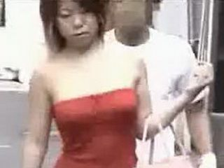 Unknown Man Molested Japanese Woman on the Street
