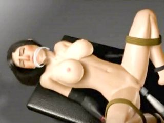 Tied up 3d hentai girl Tifa getting toyed