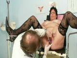 Busty elder woman weird gyno clinic exam
