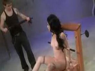 Submissive Tied Spanked And Shocked
