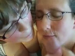 Wife and her female date get facialized by hubby