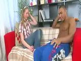 Pale blonde teen fucked by a black guy with big cock