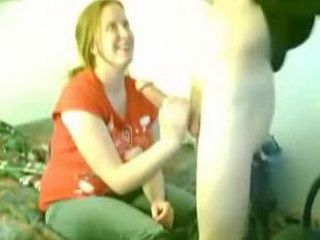 Chubby girlfriend gets mouth fucked and doggystyled