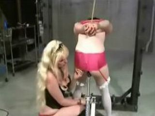 Sissy Boy Gets Anally Machined Trained