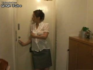 Young Japanese Housewife Will Make Old Delivery Guy Start Love His Job Again