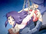 Chained hentai cutie gets hard gangbanged