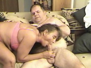 Mature Hooker Suck and Jerk Lovers Cock