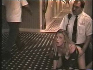 Wife Fucked In a Madrid Hotel By a Hotel Security Guard While Guest Are Passing By