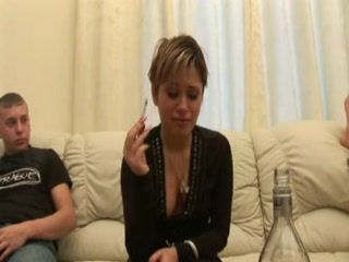 Wasted  Russian Girl Anal Fucked