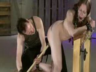 Tattooed Submissive Whipped Paddled And Toyed
