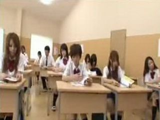 Japanese teen schoolgirl forced to participate in naked in school program