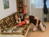 Russian Girl In Red Lingerie Fucked By Her Boyfriend