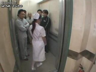 Japanese Nurse  GangFucked In Hospital Elevator - Fuck Fantasy