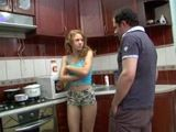 Girl Seduced And Fucked In The Kitchen While She Make Dinner