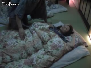 Sleeping Japanese MILF Awaken And Fucked By Husbands Brother