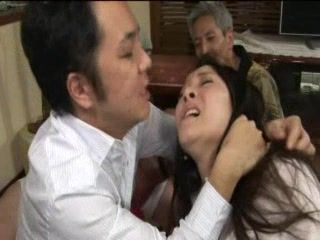 Japanese Wife Abused In Front Of Bondage Husband