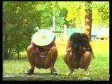 Crazy Girls Peeing Outdoor