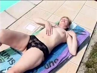 Granny Seduced Son In Law On The Swimming Pool