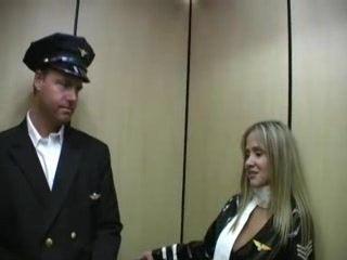 Stewardess Fucks Her Collegue First day On The Job