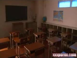 Boy Violates His Teacher In Classroom