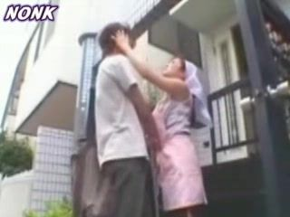 Bored Japanese Housewife Invites Kid From Neighborhood To Help Her Something