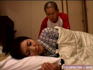 Japanese Boy Sneaks Bedroom of Sleeping Uncles Wife