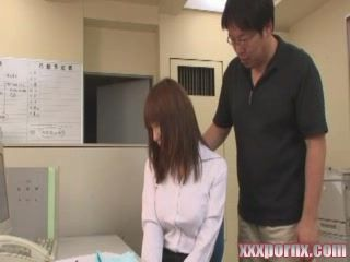 Japanese Principal Blackmail and Fuck Teacher Just Outside Of Classroom