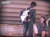 Japanese Teenagers Runaway From Classes To Fuck Under College Stairway