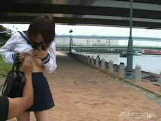 Japanese Uniform Girl Pissing And Fucking In Public 2
