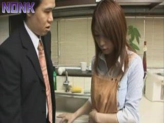 Japanese Housewife  Fucked By Husbands Brother In Kitchen
